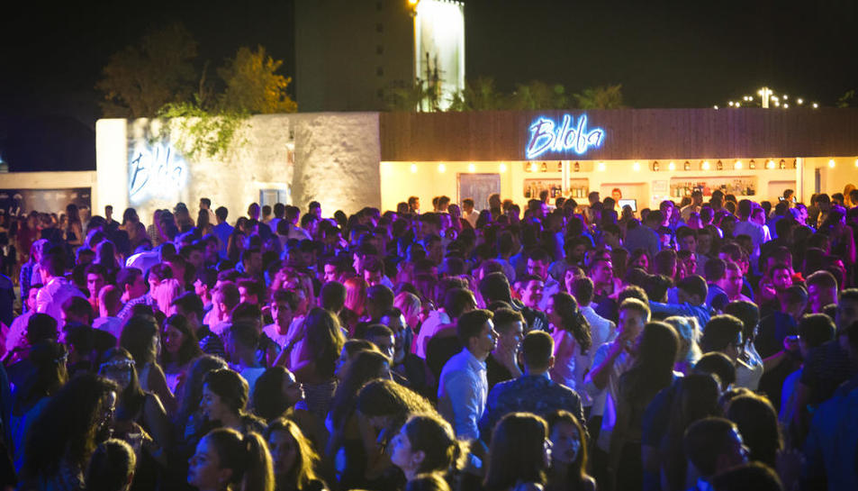 Imatge d'una nit de festa a la discoteca Biloba de Lleida.