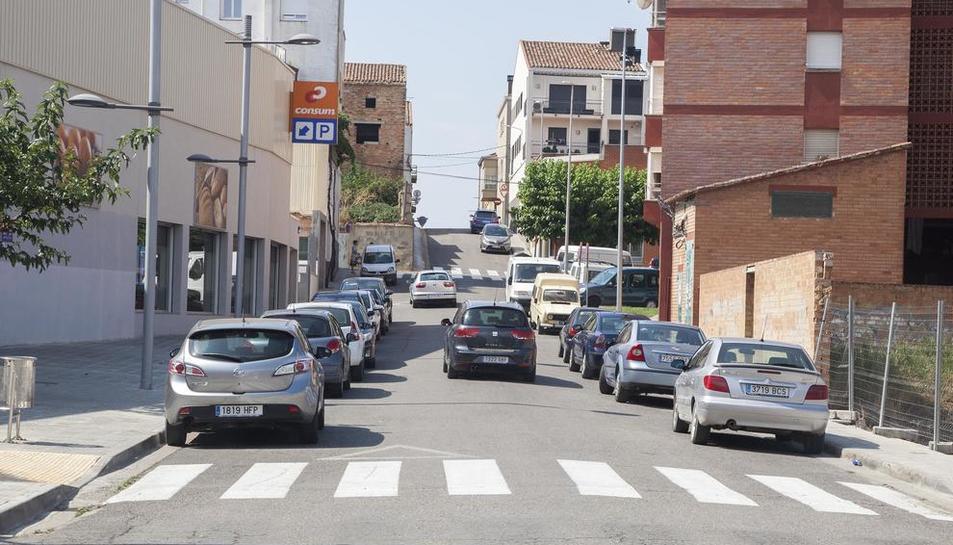 El carrer Isabel Casanovas de Bellpuig.