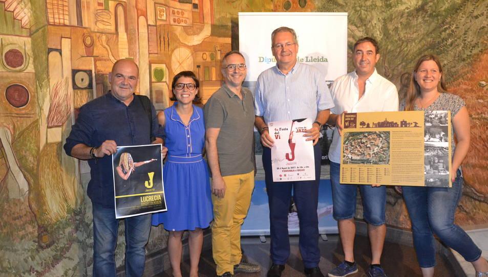 Momento de la presentación de la fiesta del vino 'JazziVi'.