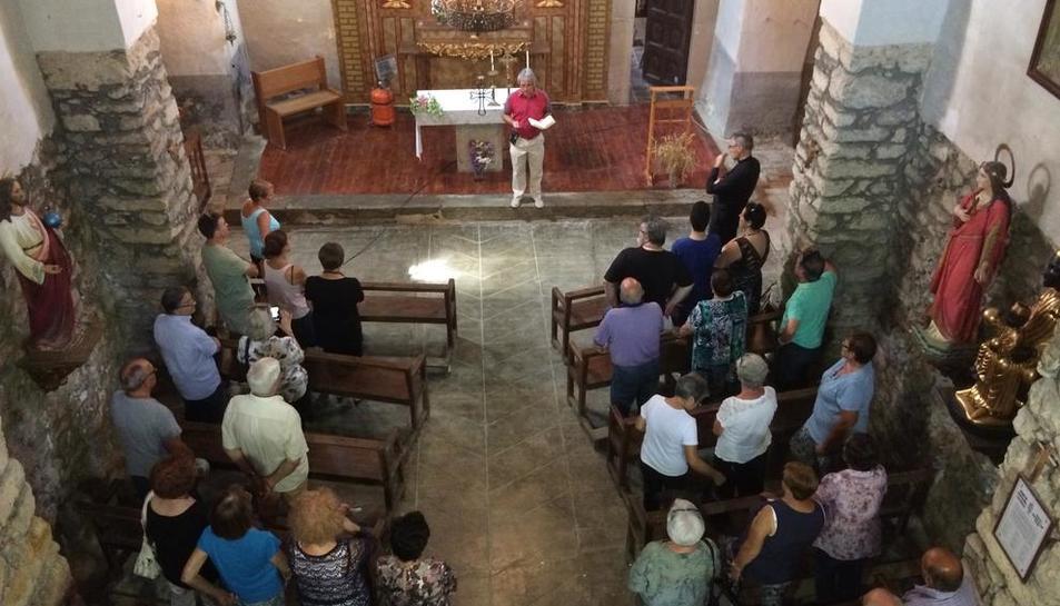 Acto de inauguración del repique de las campanas para dar las horas en la iglesia de Sant Serni.
