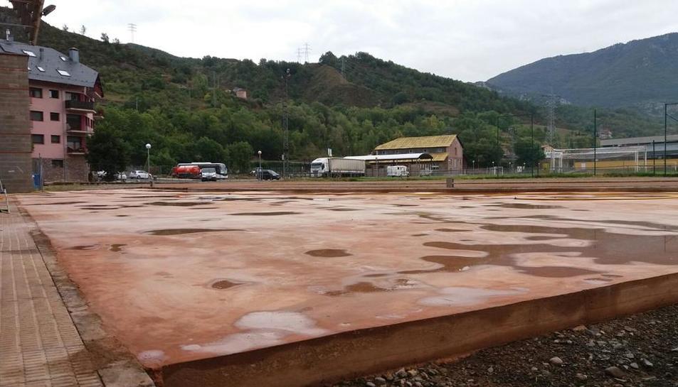 La plataforma donde se colocarán los distintos módulos de skate.