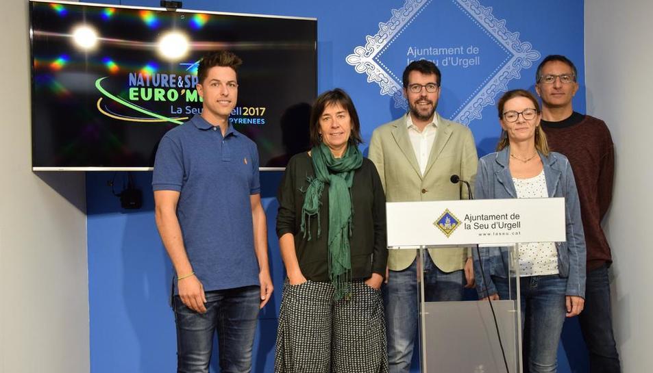 Presentación del congreso ayer en el ayuntamiento de La Seu.
