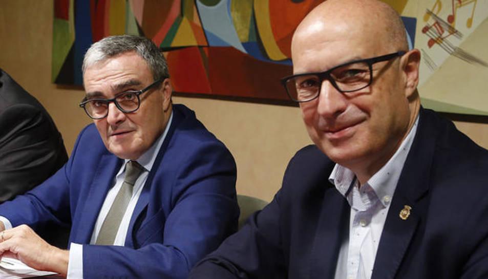 Albert Sorribas, Àngel Ros y Rafael Peris presentaron el proyecto Inno4agro, subvencionado por la UE.