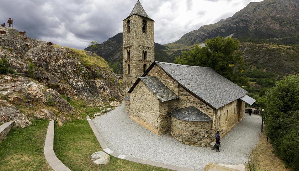 Sant Joan de Boí va rebre de juny a agost més de 14.500 visitants, la meitat de Sant Climent de Taüll.