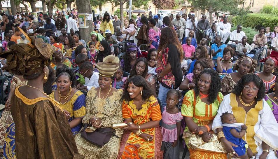 Imatge d'arxiu d'una festa de la comunitat senegalesa.
