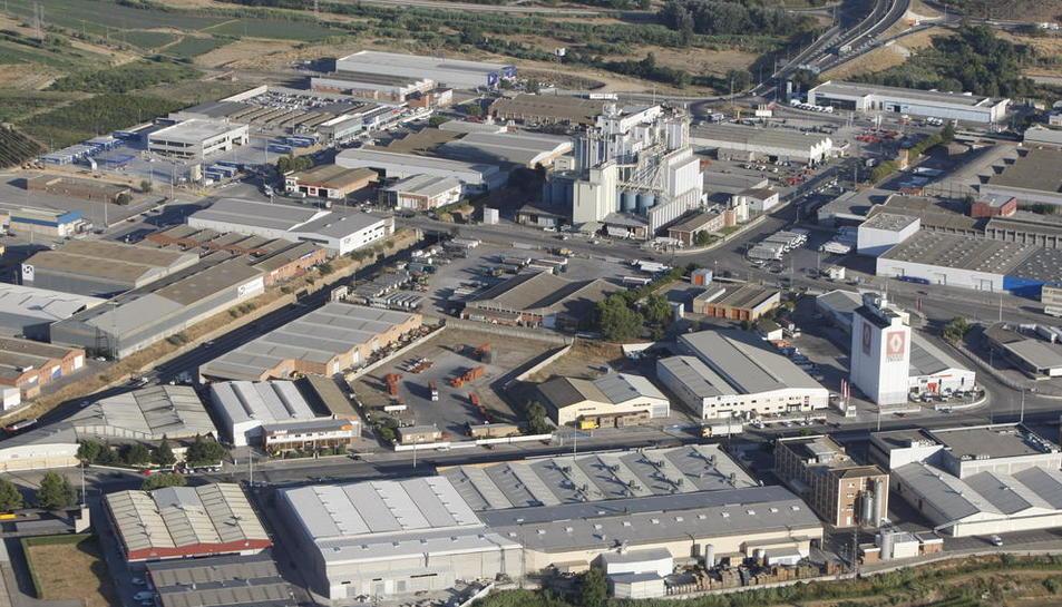 Vista aérea del polígono industrial El Segre.