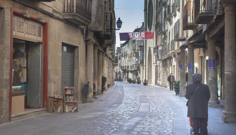 Imatge del carrer Major de Cervera.