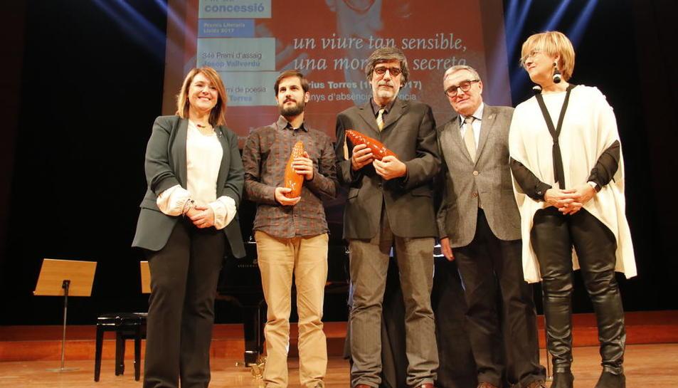 Josep Vallverdú no va faltar a la cita anual amb el premi d'assaig.