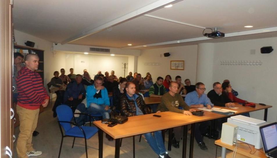 Un momento de la asamblea de CCOO ayer en Lleida.