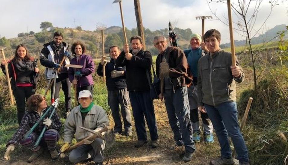 Treballs de recuperació a Vergós Guerrejat