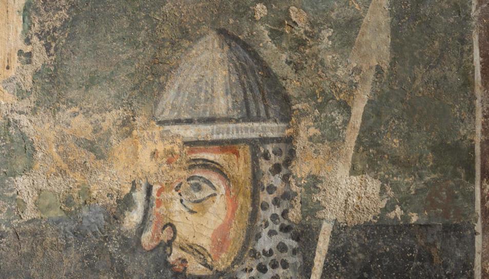 Detall d'aquestes pintures, de finals de l'XI i principis del XII.
