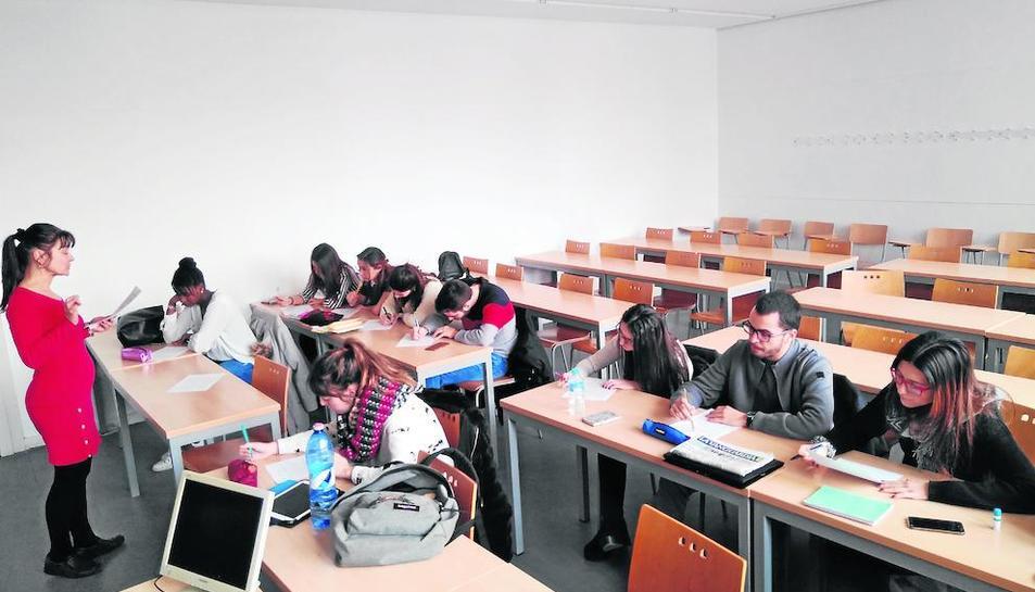 Alumnos de cuarto del grado de Educación Primaria bilingüe de la UdL, el miércoles pasado en un seminario impartido en inglés.