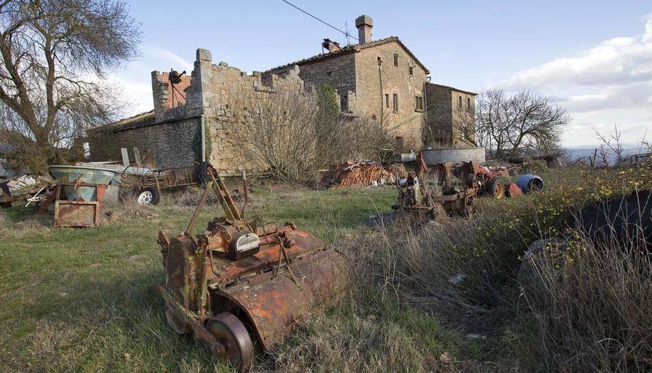La masia de La Vila, una de les que recuperarà Llanera i, per tant, el municipi de Torà.