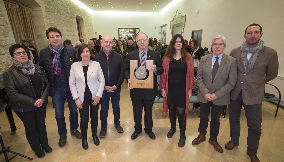 L'acte del lliurament de la setena edició del Premi Sikarra, ahir, a Santa Coloma.