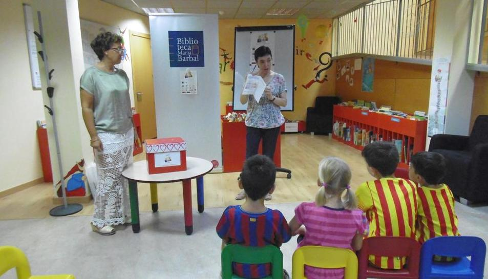 Actividad infantil reciente en la biblioteca Maria Barbal de Tremp.