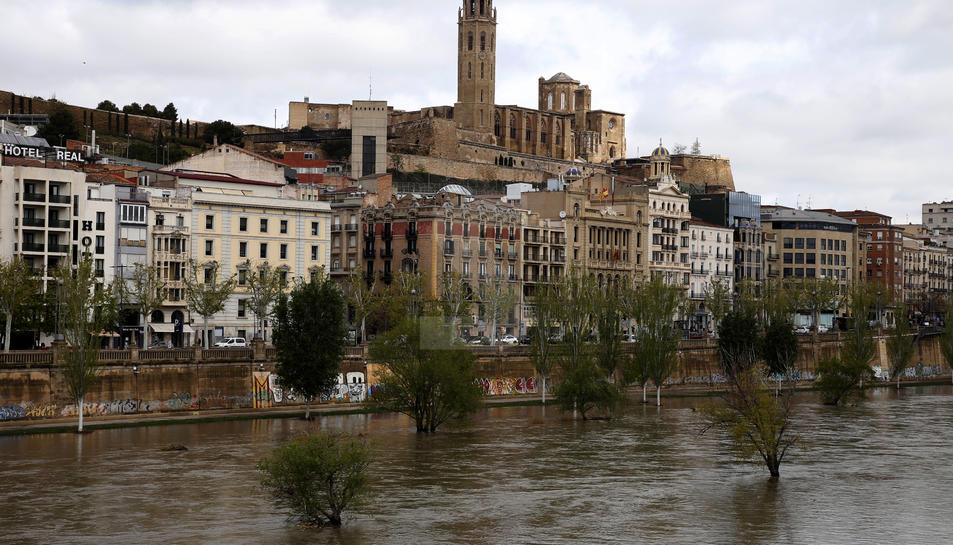 El riu Segre al seu pas per Lleida
