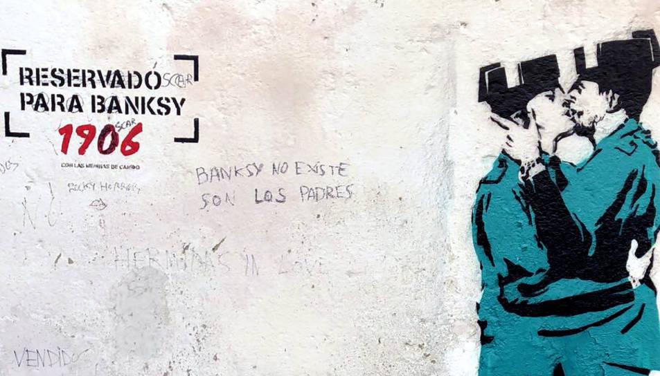 És aquesta la primera obra de Bansky a Espanya?