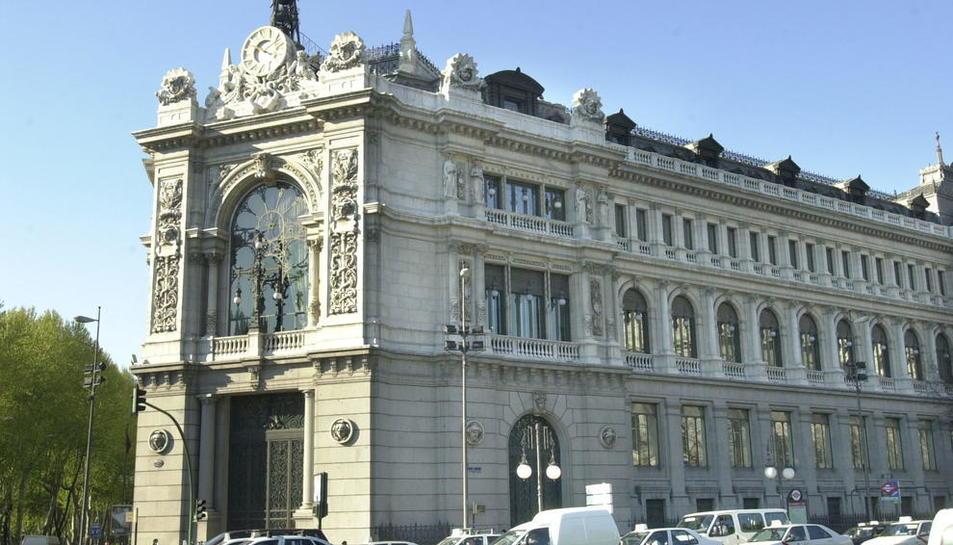 Imatge d'arxiu de la seu del Banc d'Espanya a Madrid.