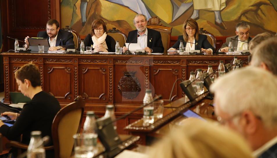 Un moment del ple de la Diputació de Lleida d'aquest divendres, 20 d'abril.