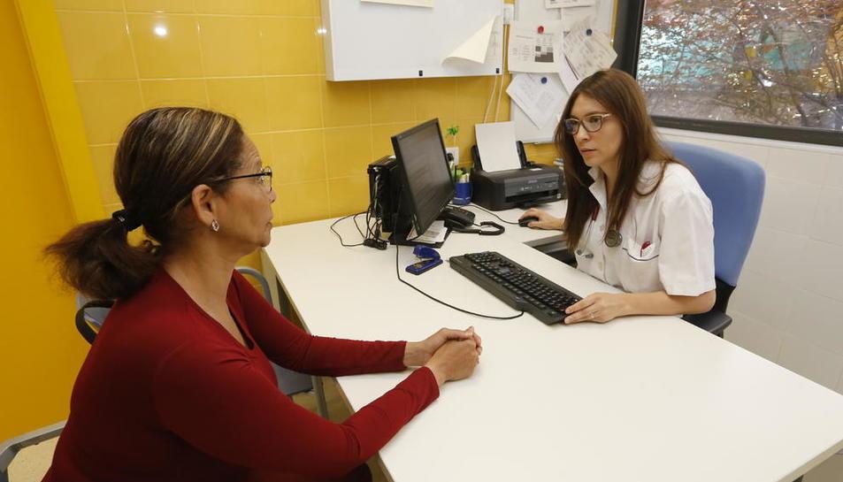 Imagen de una visita en el Centro de Atención Primaria Primer de Maig, en la Mariola.