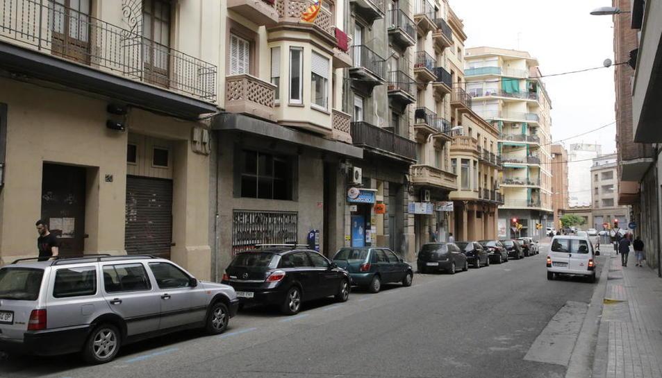 El carrer Comtes d'Urgell, entre Anselm Clavé i Príncep de Viana.