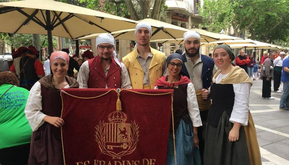 Es Fradins de Vielha actuaron el fin de semana en Manresa.