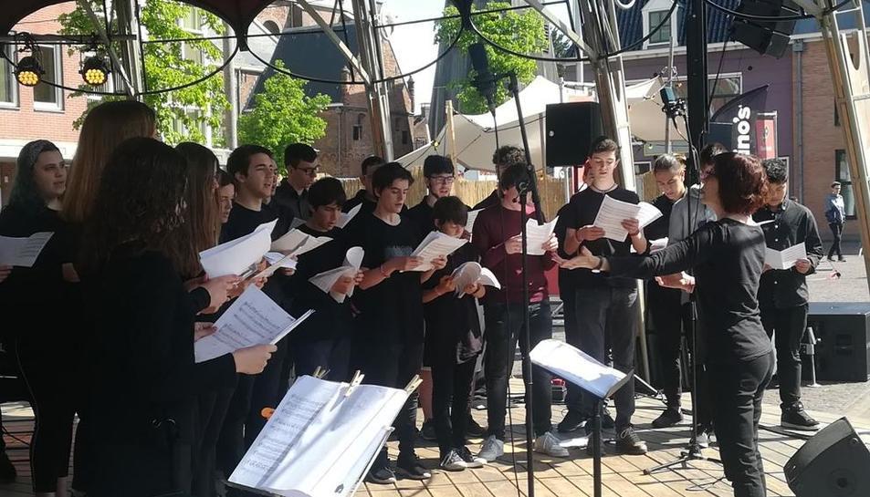 Una de les actuacions que van tenir lloc a Holanda.