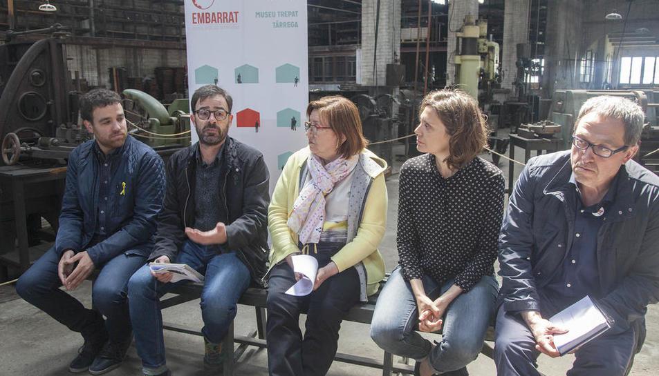 Un momento de la presentación en Cal Trepat. El presupuesto del festival es de 26.000 euros.