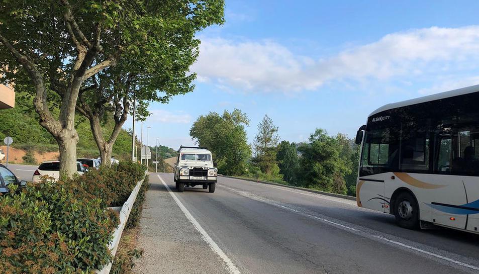 La travessia de la carretera de Bassella a Solsona.