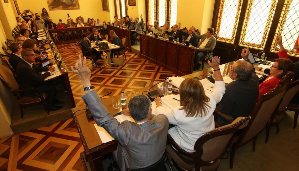La votació del pla de subvencions per aquest any.