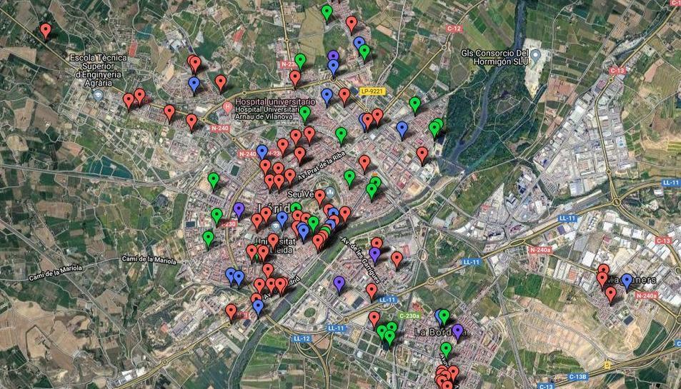 Mapa dels projectes dels pressupostos participatius.