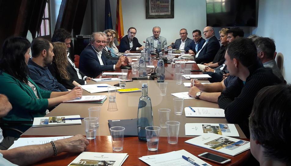 Reñé, ahir durant la trobada amb els alcaldes de l'Alt Urgell.