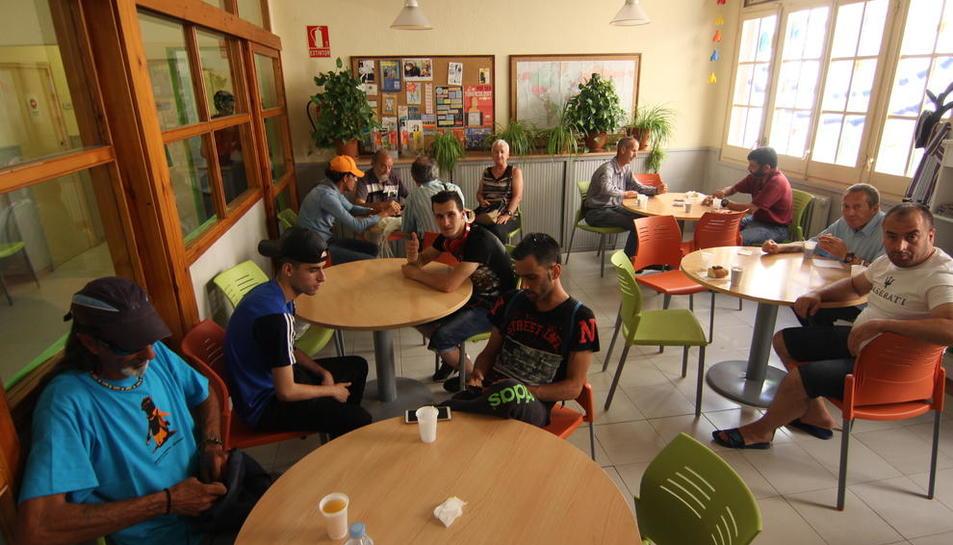 Imagen tomada ayer del Centre Obert de Arrels, que atiende a personas sin hogar.