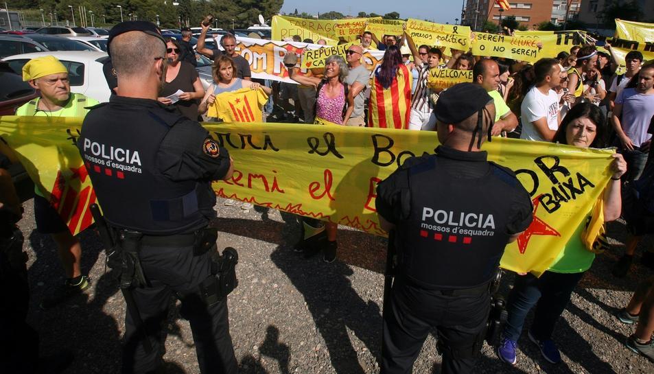 Una protesta contra la presència del rei a Tarragona