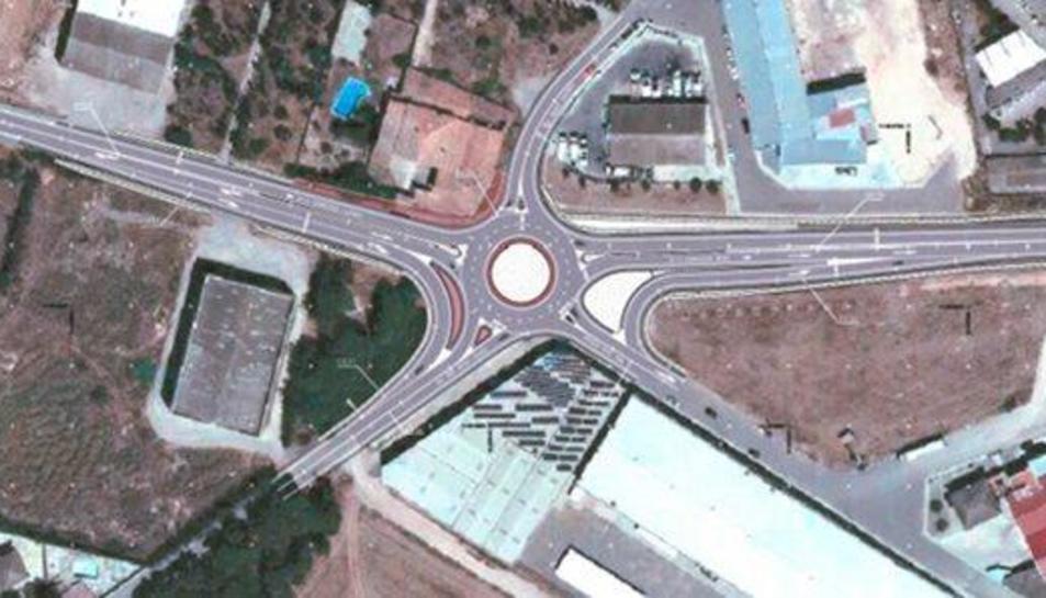 Territorio destina 685.000 euros a una rotonda en la N-II a la altura de Bellupig