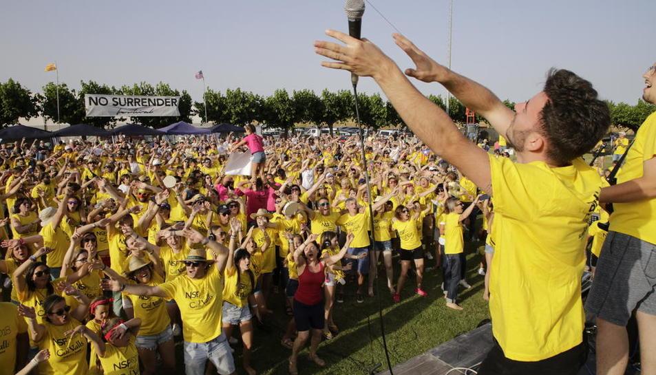 El camp de futbol de Vilanova de Bellpuig va quedar petit per a aquesta segona edició del No Surrender, que va aconseguir un rècord de públic.