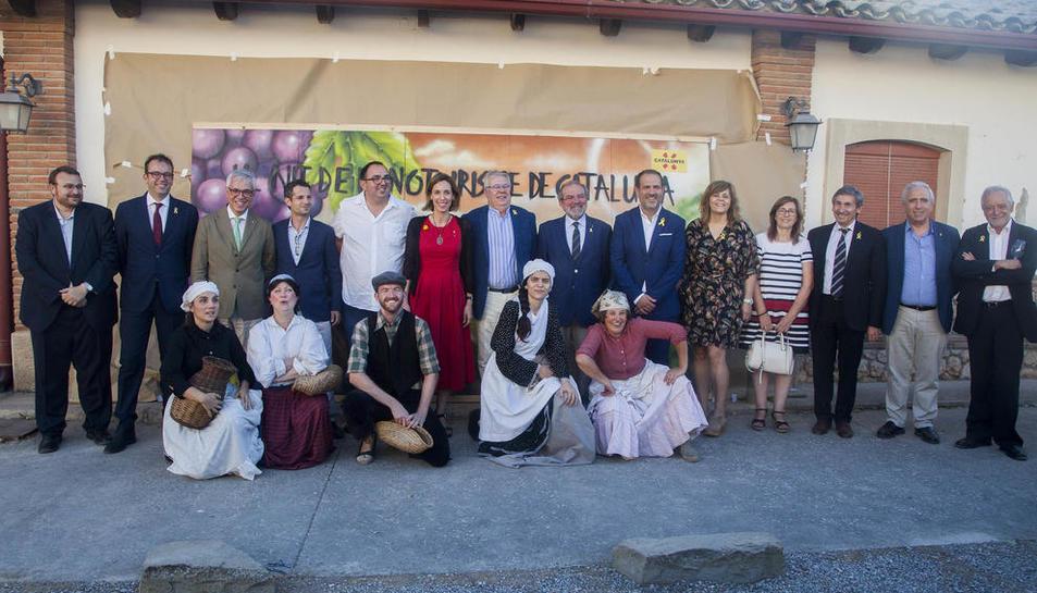 Los Premis d'Enoturisme de Catalunya se entregaron en el Castell del Remei y contaron con la consellera Chacón, entre otras autoridades.