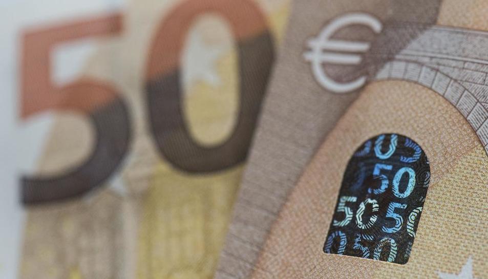 Imagen de los nuevos billetes de 50 euros.