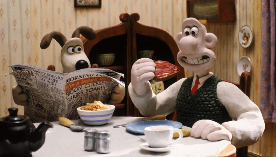 Escena de la serie 'Wallace & Grommit' de Peter Lord.