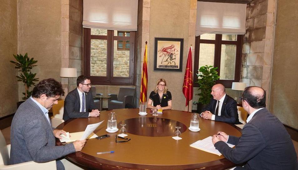 La reunión el martes con Artadi, consellera de Presidencia.