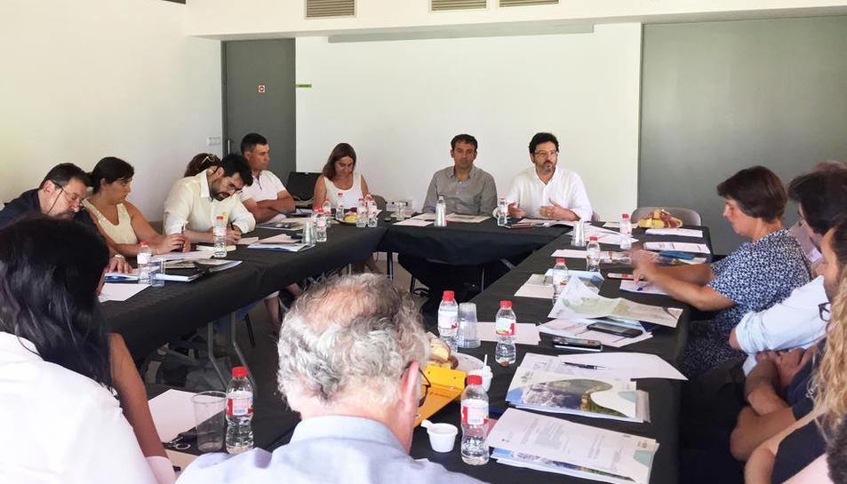La reunió de Gavín amb els alcaldes de l'Alt Urgell.