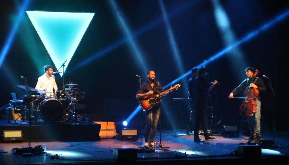El grup Blaumut, durant l'últim concert que va oferir a l'Auditori de Lleida.