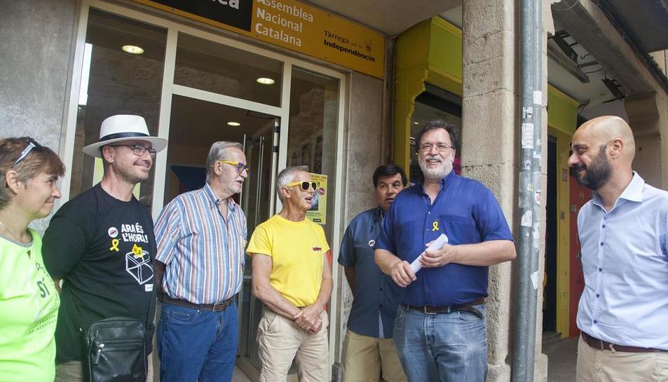 Salvador Bori (segon dreta), en una imatge d'arxiu.