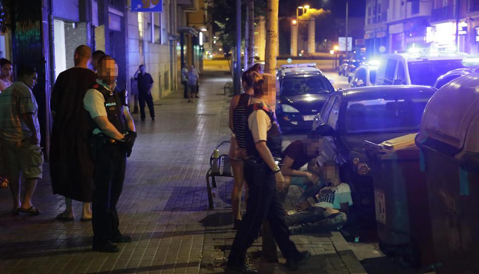 Un moment de l'incident registrat diumenge a la nit a Alcalde Porqueres.