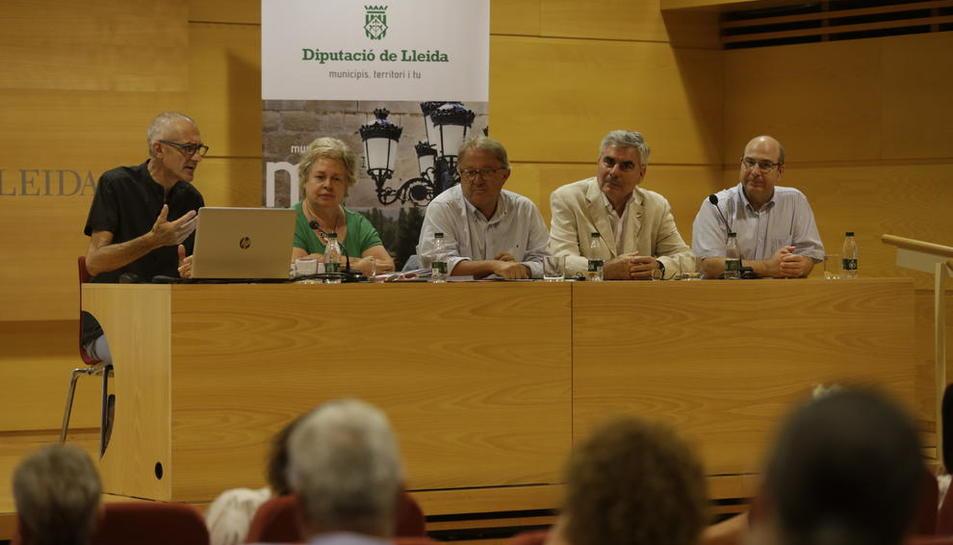 Un moment de la presentació de la quinzena edició del Seminari de Postgrau Cervera-Jordà.