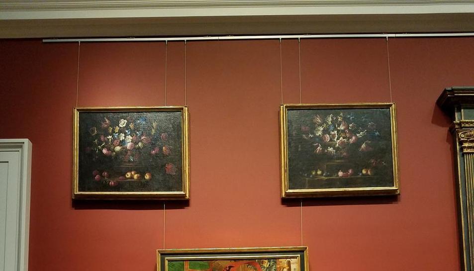 La tabla 'Adoración de los Reyes Magos' expuesta ya en el Meadows Museum de Dallas.