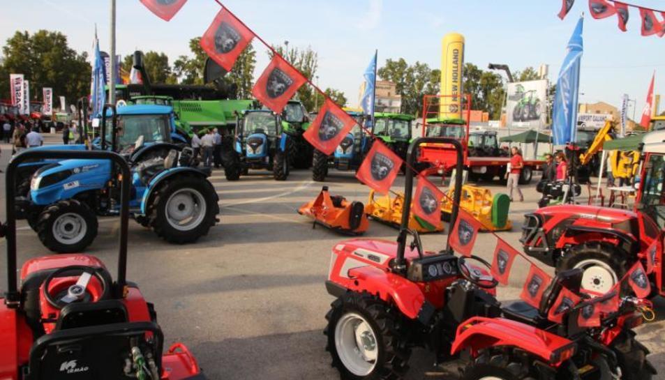 Imagen de archivo de tractores en una anterior edición de la feria.