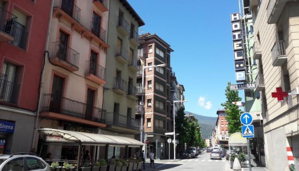 Imatge d'alguns rètols afectats de l'avinguda Pau Claris de la capital de l'Alt Urgell.