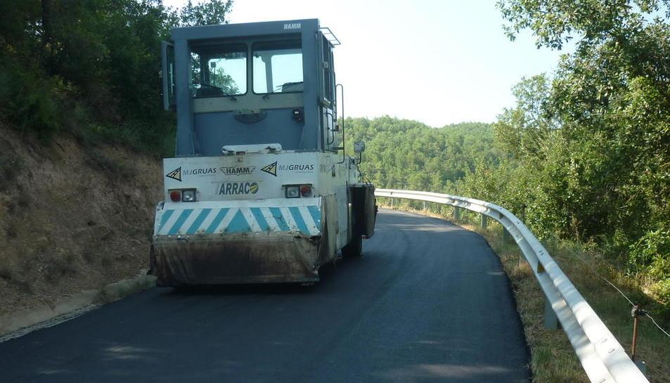 Un dels camins en què ha actuat el consell comarcal.