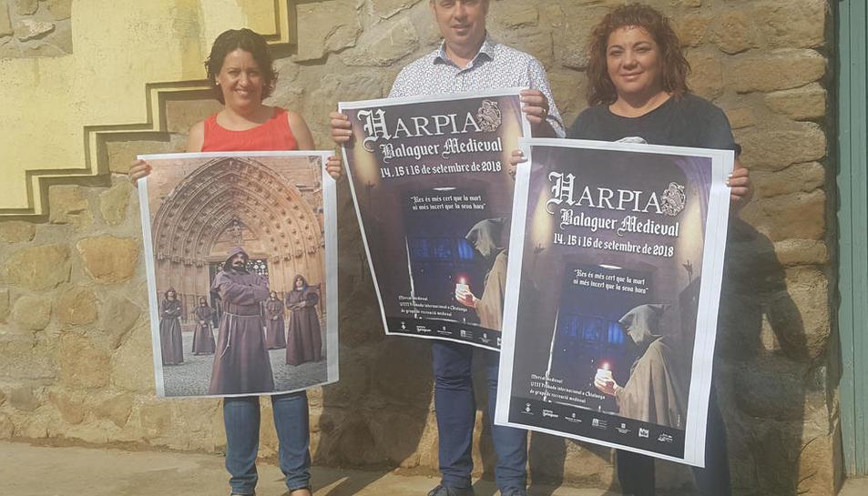 Presentación ayer en Balaguer de la octava edición de 'Harpia'.